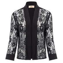 a207bed79b1501 Womens Plus Size Waterfall Lace Cardigan Business Floral Lace Cardigan Top  S-2XL(China