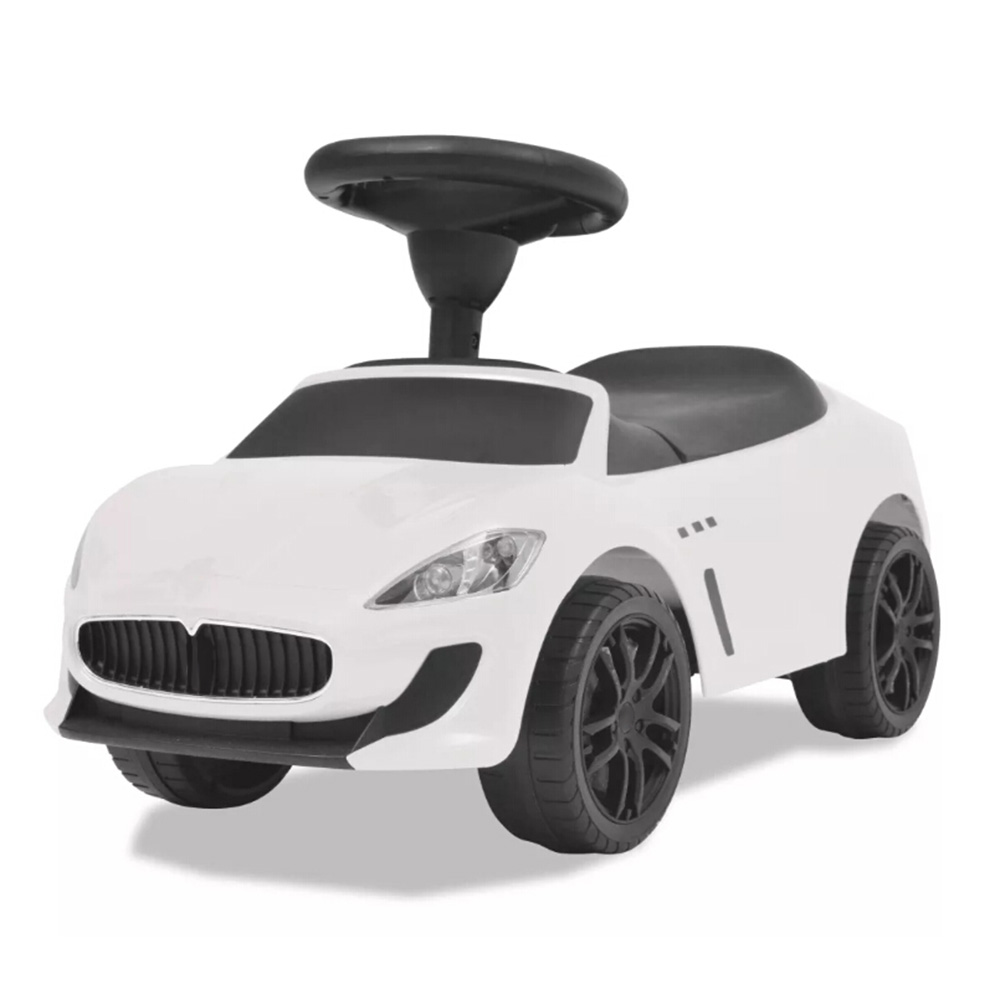VidaXL Ride-On Car White Electric Car Four Wheel Double Drive Early Education Toy Baby Child Super Car Gift Foldable Backrest