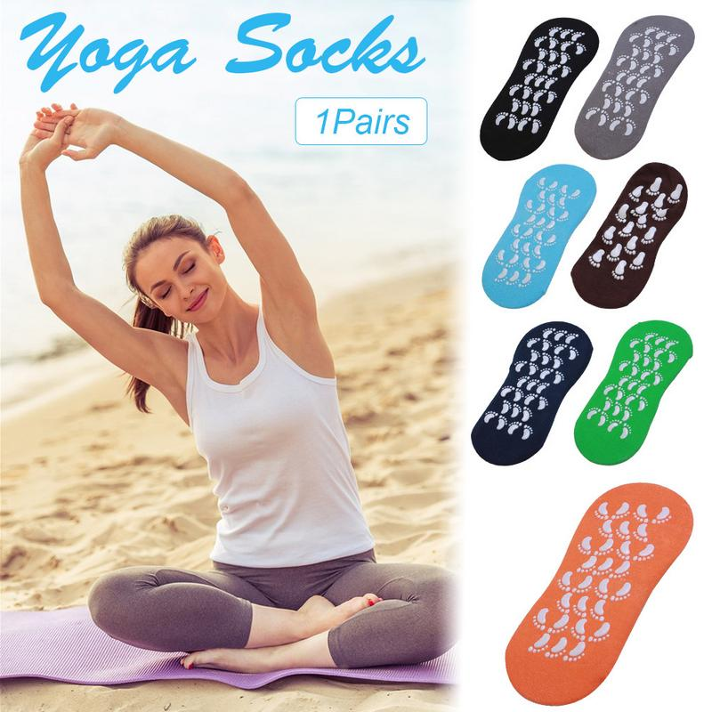 2018 New Sport Bodybuilding Adult Size 35-42 Yards Trampoline Yoga Socks Non-slip Indoor Socks Sportswear Accessories Sport Sock