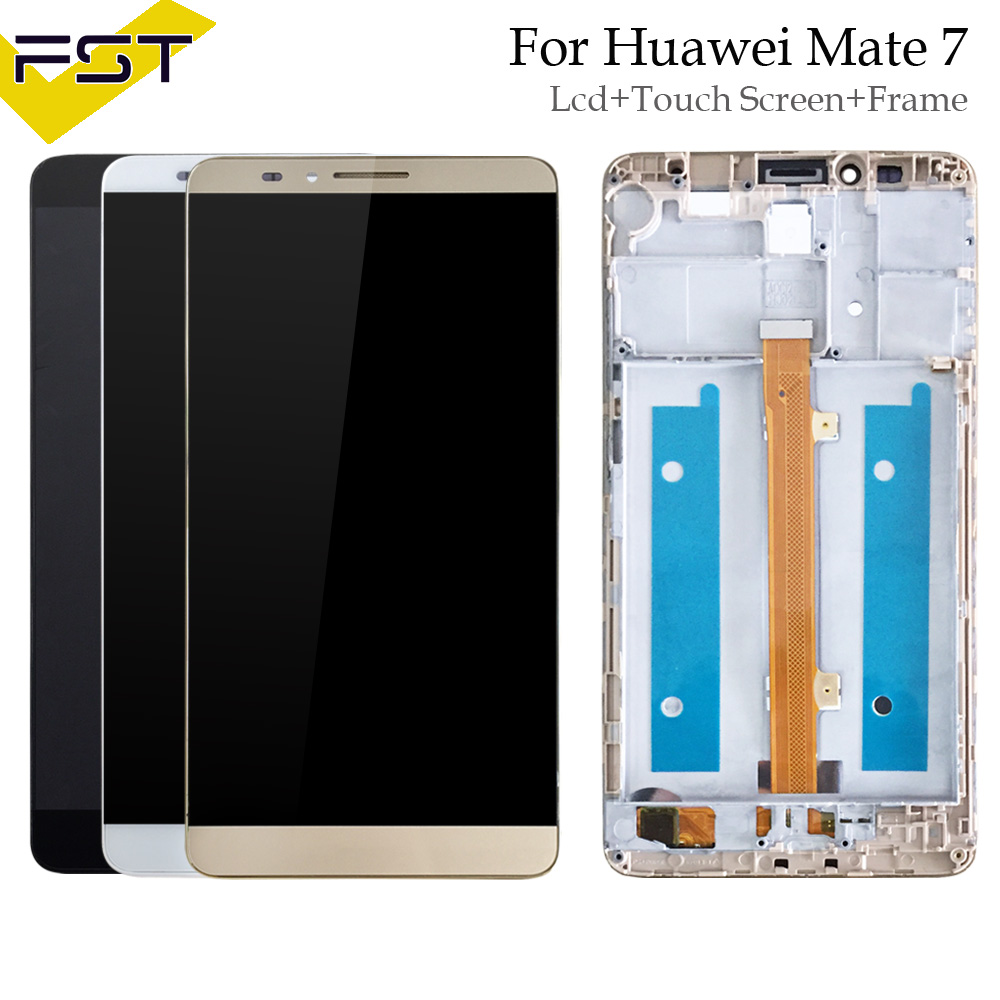 High Quality LCD For HUAWEI Mate 7 LCD Display With Touch Screen Digitizer Assembly With Frame Replacement Parts MT7-TL00High Quality LCD For HUAWEI Mate 7 LCD Display With Touch Screen Digitizer Assembly With Frame Replacement Parts MT7-TL00