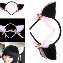 Lovely Night Party Club Bar Decorate Headbands Plush Cat Fox Fur Ear Hairband Girls Anime Cosplay Costume Hairwear