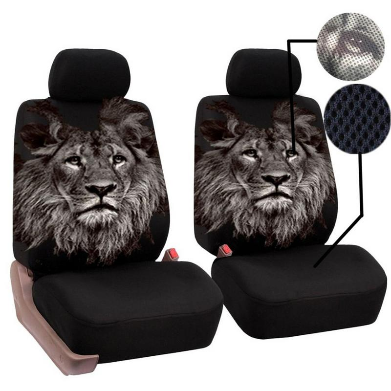4PCS Set Universal Car Seat Covers Car Interior Decor Fashion Animal Pattern Auto Seat Cover Car Seat Protector in Automobiles Seat Covers from Automobiles Motorcycles