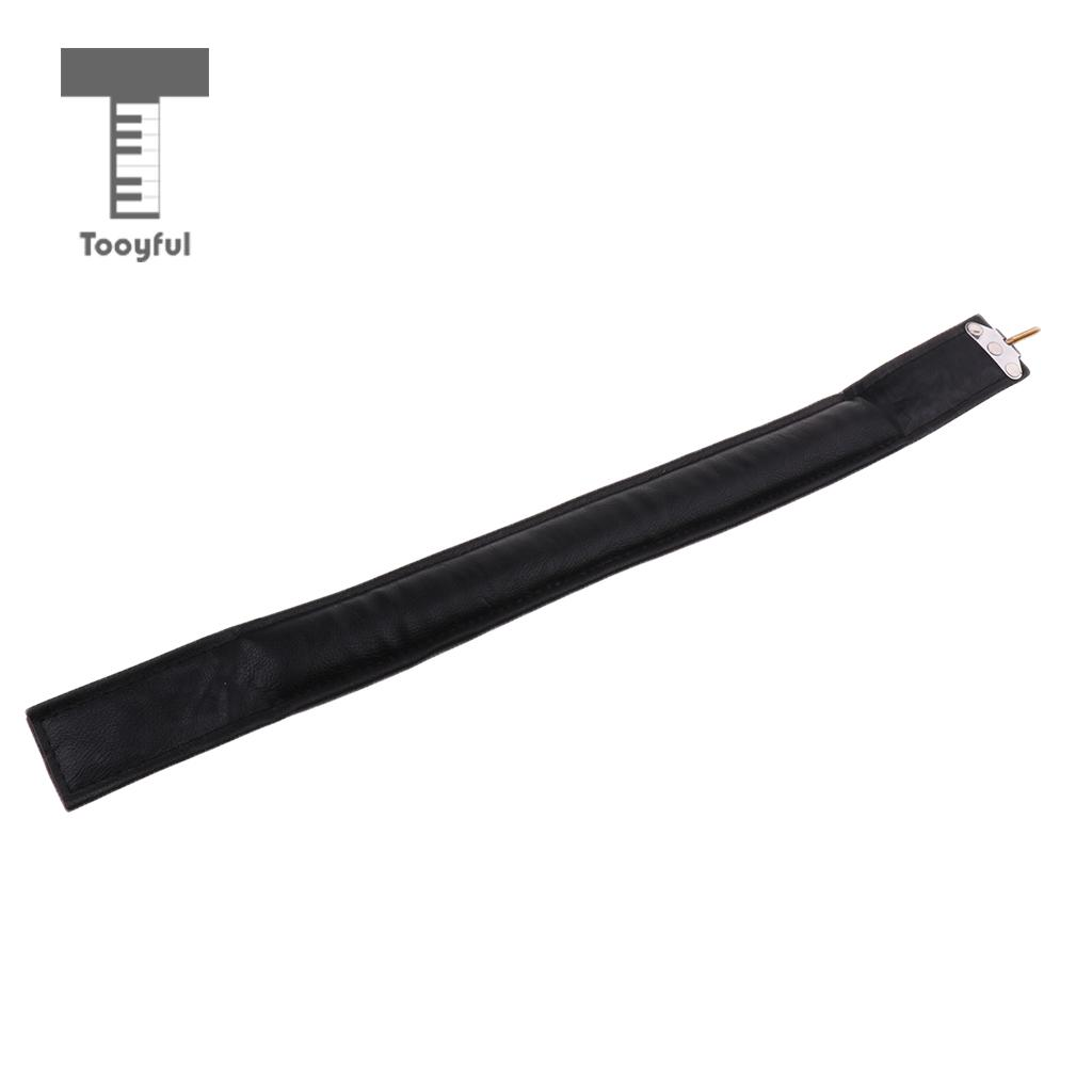 Tooyful Soft PU Leather Thick Strap Leather Bass Left Hand Strap for Accordion Parts