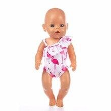 62f04723383643 Pop Kleding Accessoires Baby Pasgeboren 18 inch 43 cm Geel paars gebroken  bloemen liefde badpak sling