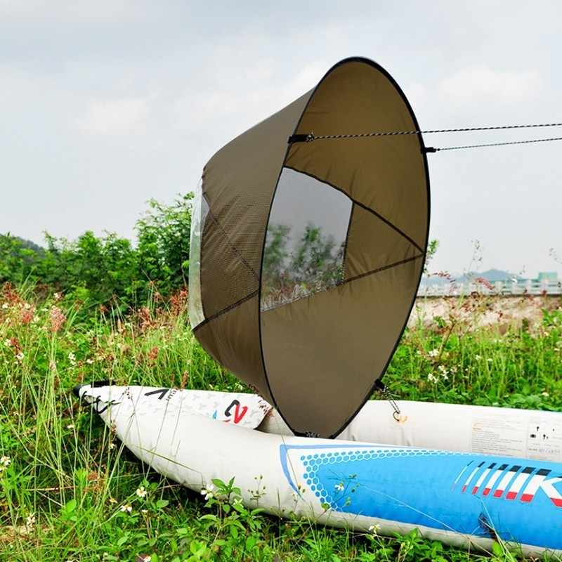 """46/"""" Green Kayak Sail Wind Paddle Downwind Popup Board Canoe SUP Accessories"""