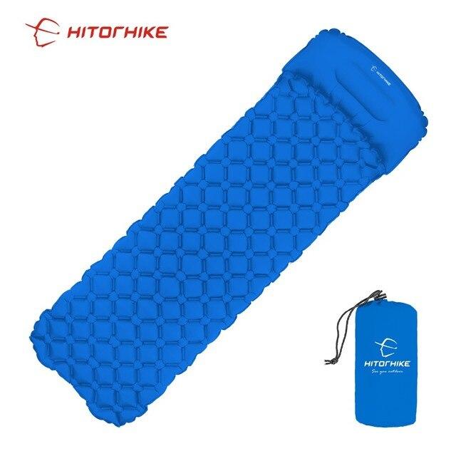 picnic mat air bed Sleeping Pad Camping Mat With Pillow air  4