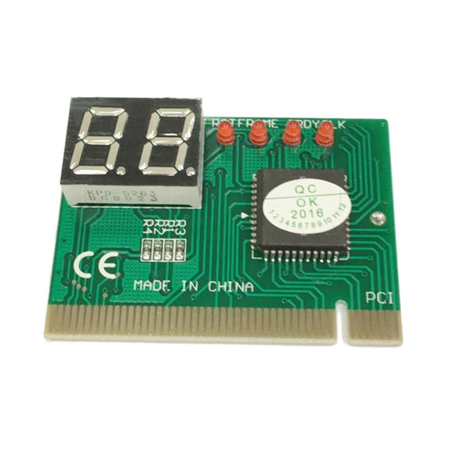 <font><b>PCI</b></font> Post Card PC Diagnostic Card 2 Digit LED Motherboard Post Tester Analyzer Checker For AMI PHONENIX BIOS For Windows VISTA PC image