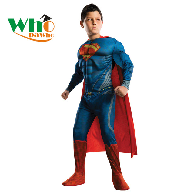 Purim Muscle Superman Children Cos Costume Boys Girls Superhero Cosplay Anime Cosplay  Halloween Costume for Kids