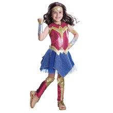 Wonder Womanสาวเครื่องแต่งกายDawn Of Justice Wonder Womanเครื่องแต่งกายเด็กเด็กSuperheroคอสเพลย์ฮาโลวีนเครื่องแต่งกายสำหรับเด็ก