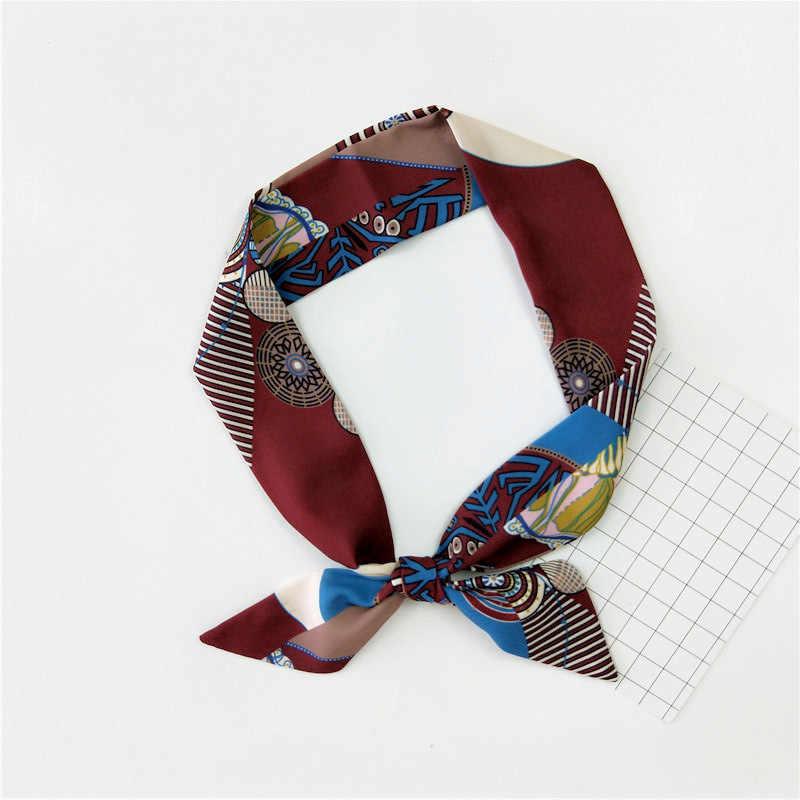 2019 новый стиль маленький шарф женский корейский вариант осени и зимы мода экстравагантный шарф осень длинный двухслойный мешок аксессуары