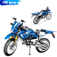 Mechanical Technology Series Suit Yamaha Building Blocks Simulation Motorcycle Model Gift for children Toy With Legoinglys