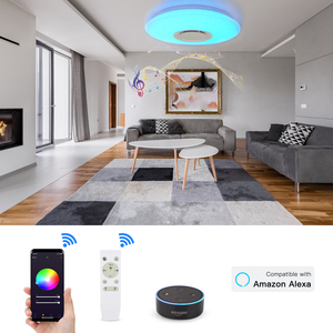 Image 3 - Modern LED Star Light RGB Smart Blutooth Music Ceiling Light Dimmable 36W APP Remote Control Light for For Living Room Bedroom