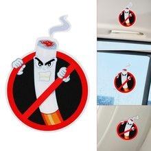 Não fumar aviso engraçado adesivos de carro pvc estilo do carro decalques acessórios interiores decoração automóvel