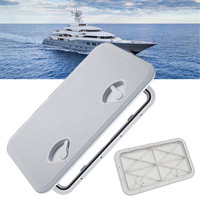 606x353mm Plastic Watertight Marine Boat Caravan Deck Compartment Access Hatch Plate White Inspection Yacht Cover RV Ship Part