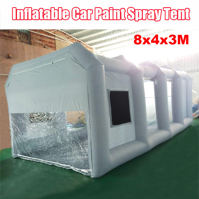 8x4x3 Meters Inflatable Paint Spray Booth Tent For Car Paint / Washing , Outdoor Portable Inflatable Spray Booth With Air Blower8x4x3 Meters Inflatable Paint Spray Booth Tent For Car Paint / Washing , Outdoor Portable Inflatable Spray Booth With Air Blower