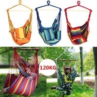 Outdoor Canvas Hammock Chair Swing Hanging Chair Relax Soft Indoor Garden Camping Swing Garden Furniture Chair Hammocks