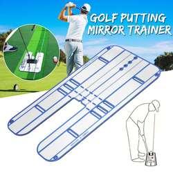 44,5x23,5 см подкладка для гольфа зеркало выравнивания Тренер гольф качели прямо практика Твердые гвоздики аксессуары для игры в гольф