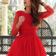 Сексуальные коктейльные платья мини с длинным рукавом, кружевные Мини Короткие платья для выпускного вечера, красное бальное платье с открытой спиной, недорогое коктейльное платье