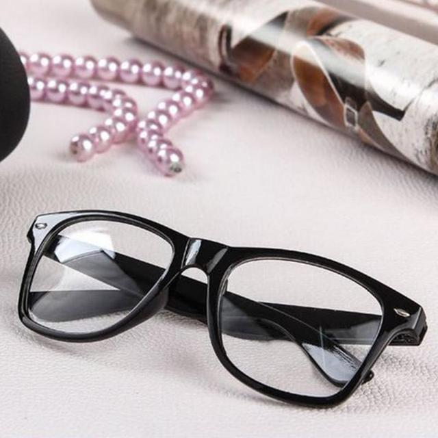 e22cc67a0bf3 Fashion Summer Style Candy Color Glasses Unisex Clear Lens Nerd Geek Glasses  Men Women Earwear glasses