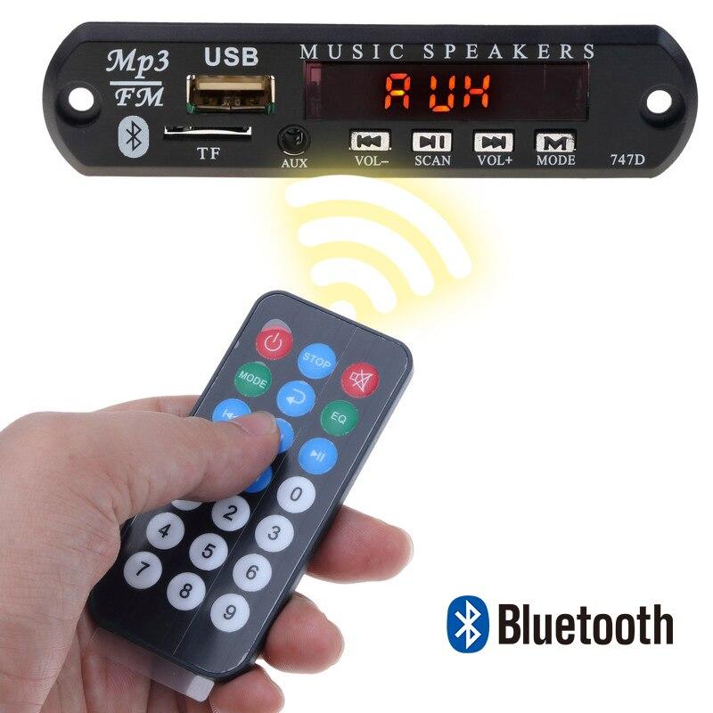 Aux Fm Radio Mit Fernbedienung Für Auto Lautsprecher Letzter Stil tf Motiviert Kebidu Auto Bluetooth Mp3 Decoder 5 V 12 V Mp3 Wma Audio Modul Unterstützung Usb Sd