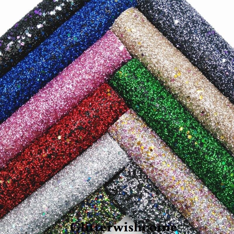 Glitterwishcome 21X29 см A4 размеры синтетическая кожа, коренастый блестящая кожаная ткань винил для Луки, GM044A