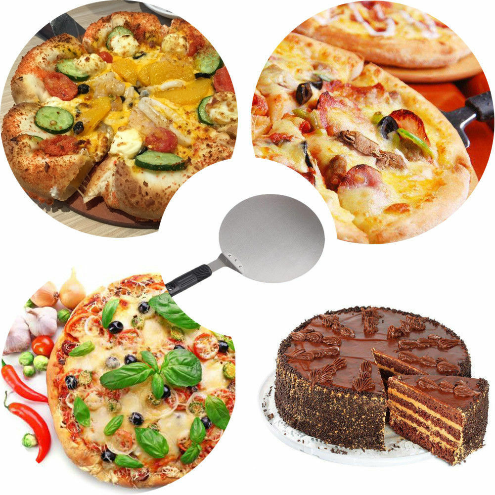 New 14/'/' Pizza Spatula Peel Shovel Cake Lifter Plate Holder Baking