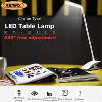 LED Light Dimmable Clip On Desk Table Night Light Touches 3 Modes Bed Reading Lamp Eye Protection Desk Lamp USB Charging