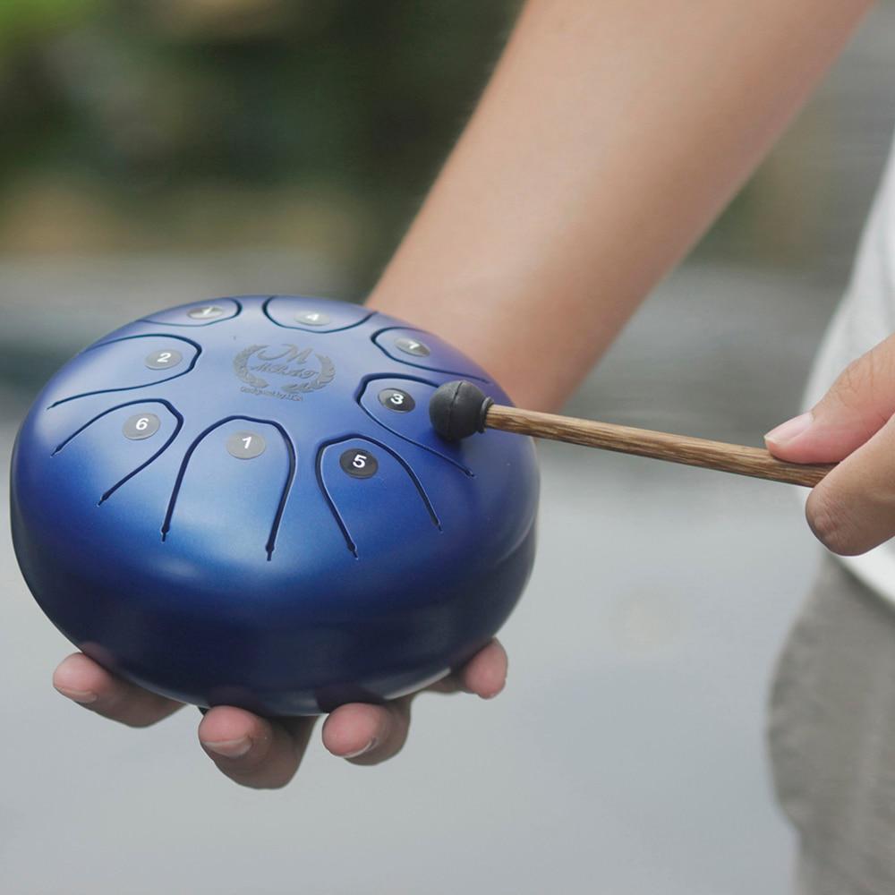 MEIBEITE Creative 5.5 pouces en acier langue tambour Set jouet Instrument de musique pour les enfants apprenant