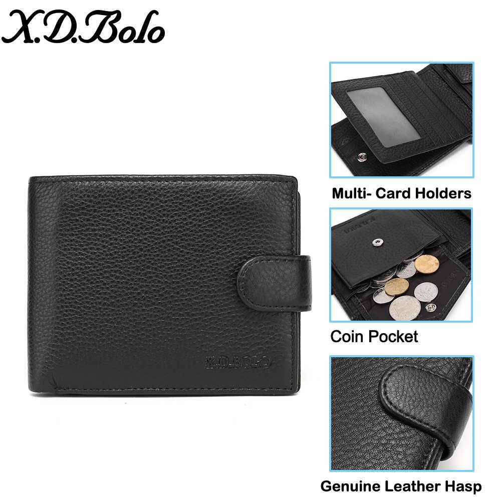 X. D. BOLO 2019 мужской кожаный кошелек мужские кошельки визитница из натуральной кожи кошелек для мужчин кошелек с монеткой Карманный Кошелек