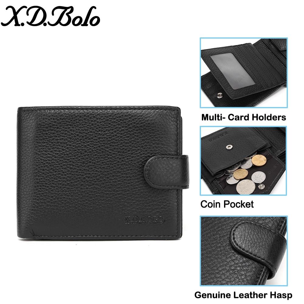 Купить мужской кожаный кошелек xdbolo 2020 мужские кошельки бумажник