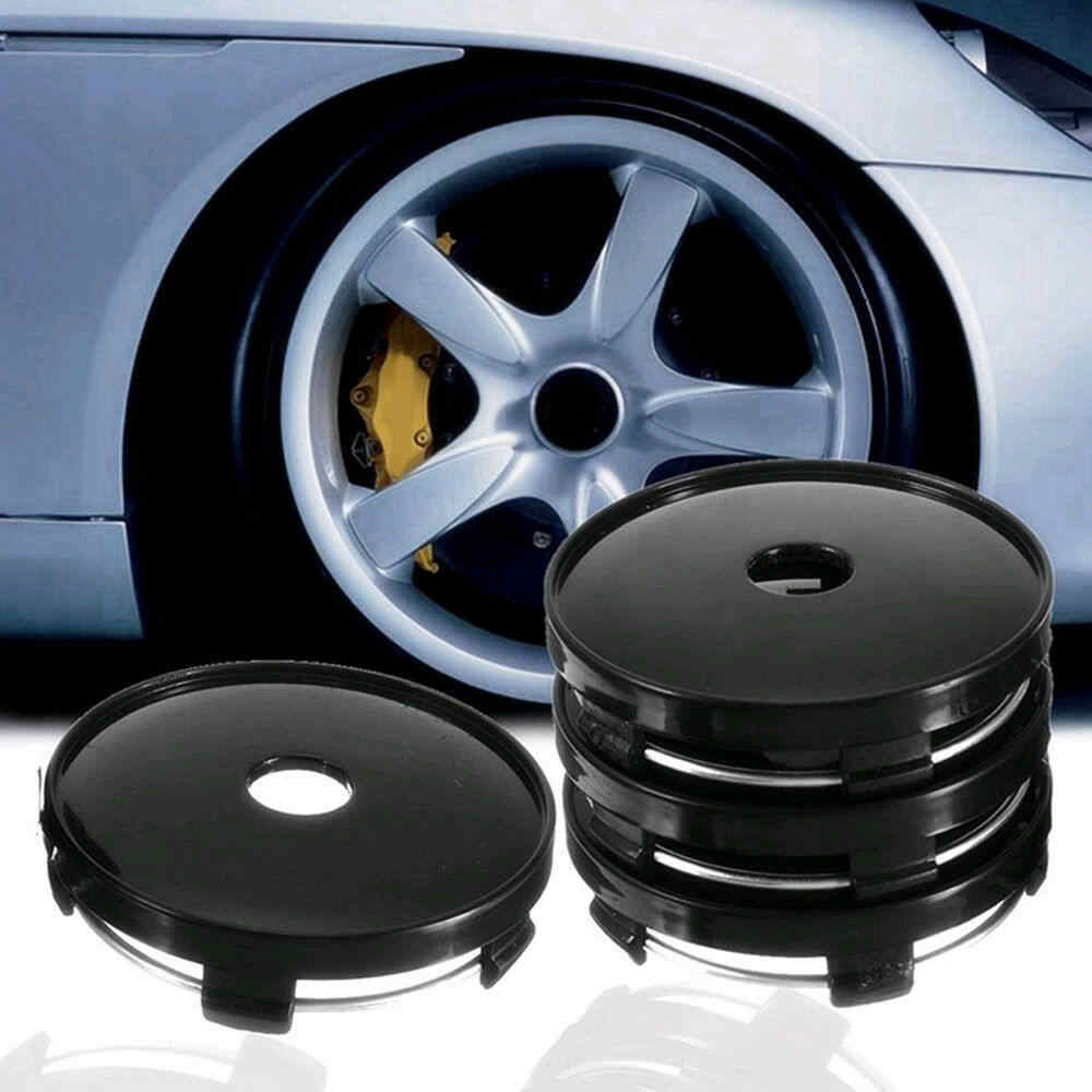 4Pcs Universal Car Wheel Tire Rims Center Hub Caps Cover Decorative Hub Center Cover ABS 60mm*56.5mm