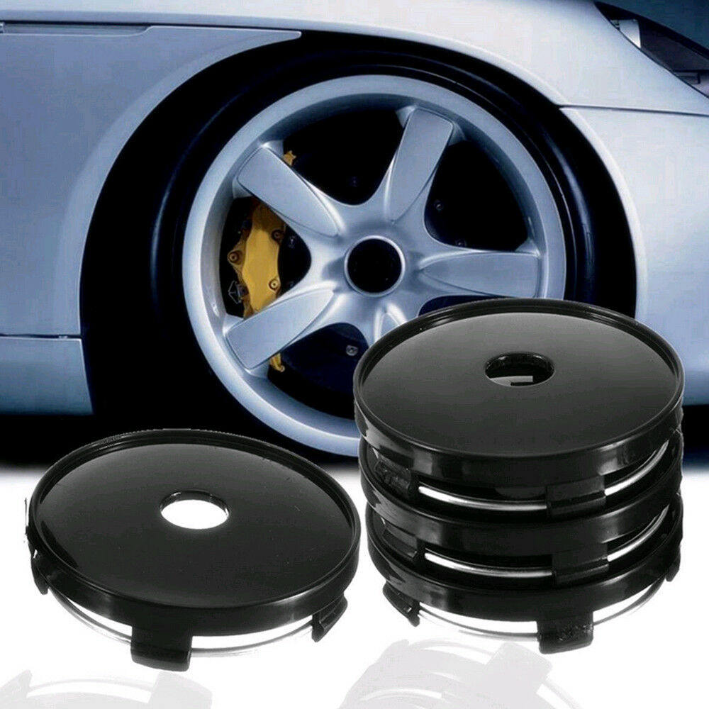Image 1 - 4Pcs Universal Car Wheel Tire Rims Center Hub Caps Cover Decorative Hub Center Cover ABS 60mm*56.5mm-in Wheel Center Caps from Automobiles & Motorcycles