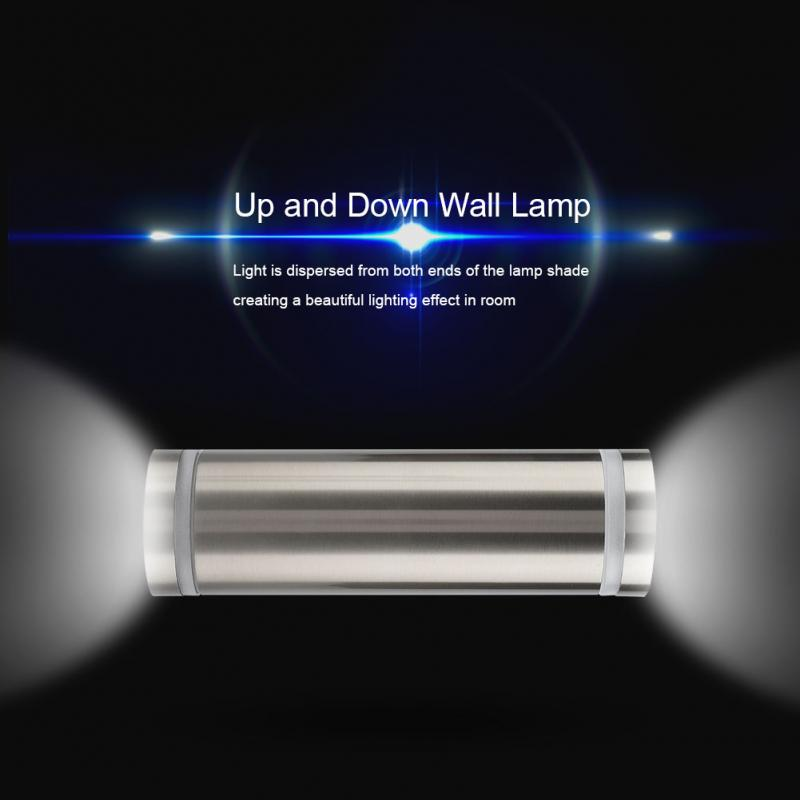 Up and Down Wall Light Indoor Outdoor Wall Lamp Home Garden Lawn Decor Lamp LED Bulbs Included applique murale luminaire in LED Outdoor Wall Lamps from Lights Lighting