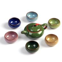 Ceramics Tea Set Chinese Travel Kung Fu Teaware Sets Ceramic Portable Teapot Porcelain Teaset Cups Of Ceremony Pot