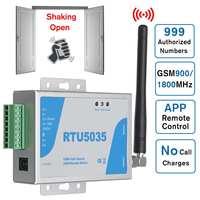 GSM Gate Opener Relay Switch RTU5035 Operator Sliding Remote Access Phone Shaking Control Door Opening Function Wireless Opener