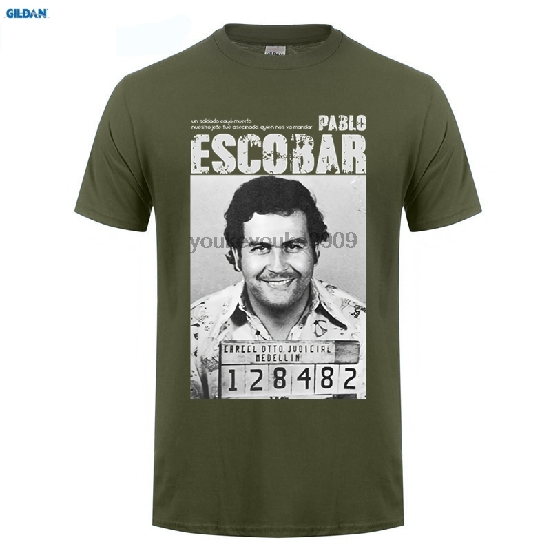 GILDAN  Pablo Escobar T Shirt Weed Mafia Scareface Luciano Capon Men Cotton Tees Plus Size Short Sleeve T-Shirt