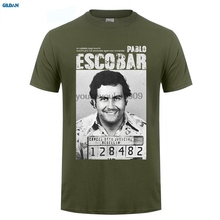 GILDAN  Pablo Escobar T Shirt Weed Mafia Scareface Luciano Capon Men Cotton Tees Plus Size Short Sleeve T-Shirt