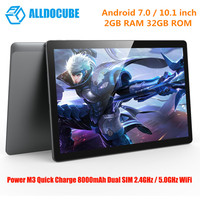 ALLDOCUBE Power M3 Tablet 10.1 4G Phablet MTK6753 LTE Octa Core 1.5GHz 1920*1200 IPS Type C OTG 2GB+32GB Tablets Android 7.0 Tab