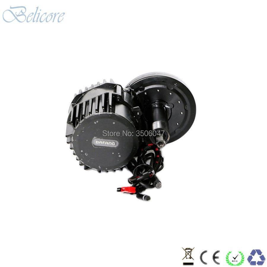 BBS02B 48 v 750 w bafang Bafang motor de meados de carro kits BB 100mm BB 120mm BB 68mm com visor LCD a cores