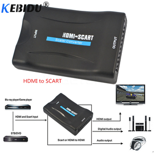 Image 5 - Kebidu 1080P Scart To HDMI Converter Audio Video Adapter HDMI to SCART For HDTV Sky Box STB For Smartphone HD TV DVD Newest