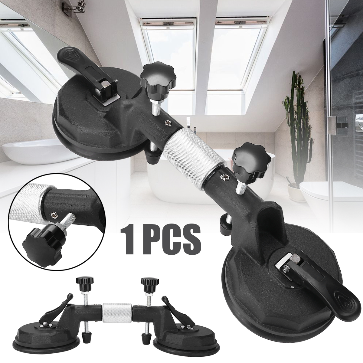 1pc Seamless Stone Seam Setter Manual Rubber Vacuum Leveling Setter for Joint with Suction Cups1pc Seamless Stone Seam Setter Manual Rubber Vacuum Leveling Setter for Joint with Suction Cups