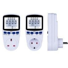 220V Digital Energy Meter Wattmeter With Backlight Electronic Power Meter Record Volt Voltage Outlet Socket Meter EU/US/UK Plug