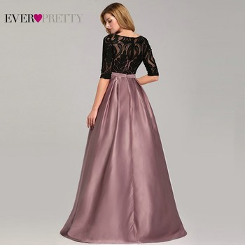 Contrast Color Evening Dresses Ever Pretty EP07866 2019 A-Line O-Neck Empire Lace Bow Elegant Sexy Party Gowns Robe De Soiree 1