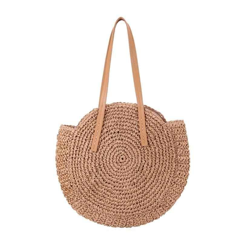 ... Большая емкость сумки круглые соломенные сумки Марокканская Пальмовая  корзина сумка натуральная овальная Большая большая сумка- ... 14e44a8ac4d