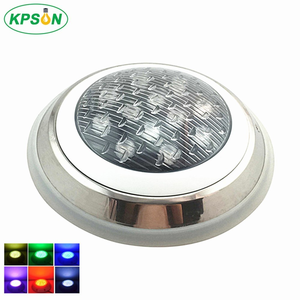 Underwater Lights LED Swimming Pool Light Surface Mounted IP68 AC12V Stainless Steel Fountain Lamp Spa Pond Lamps underwater lights rgb led swimming pool light 24v ip68 waterproof 27w 316 stainless steel colorful changeable fountain lamp