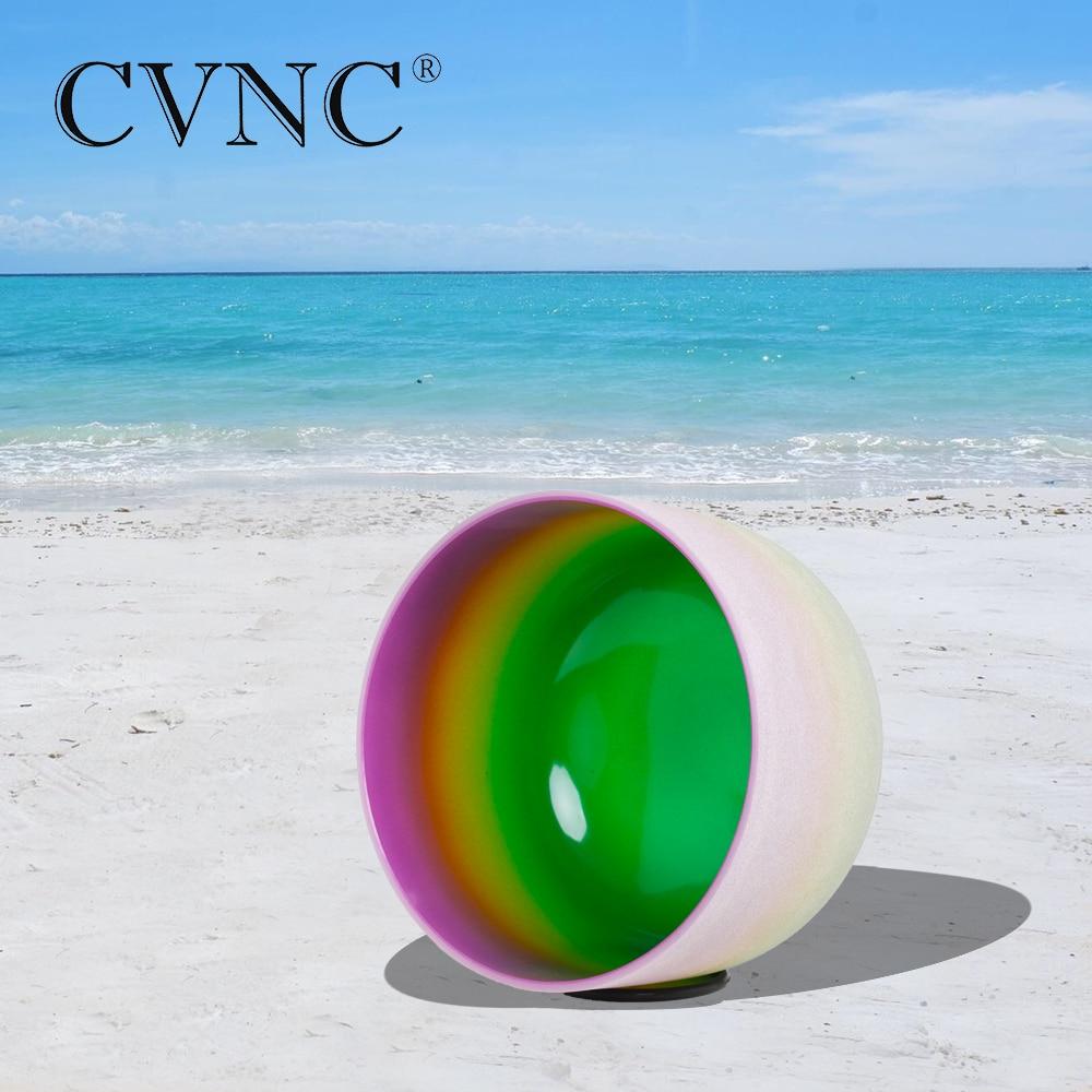 CVNC 12 Inch B Crown Chakra Rainbow Quartz Crystal Singing BowlCVNC 12 Inch B Crown Chakra Rainbow Quartz Crystal Singing Bowl
