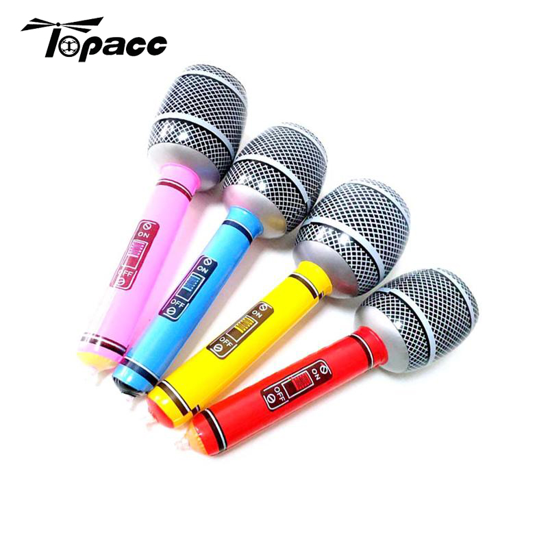 8pcs Inflatable Musical Toys For Children Kids Instruments Microphone Set Cool Fun Gift Party Supplies Stage Decorations Prop