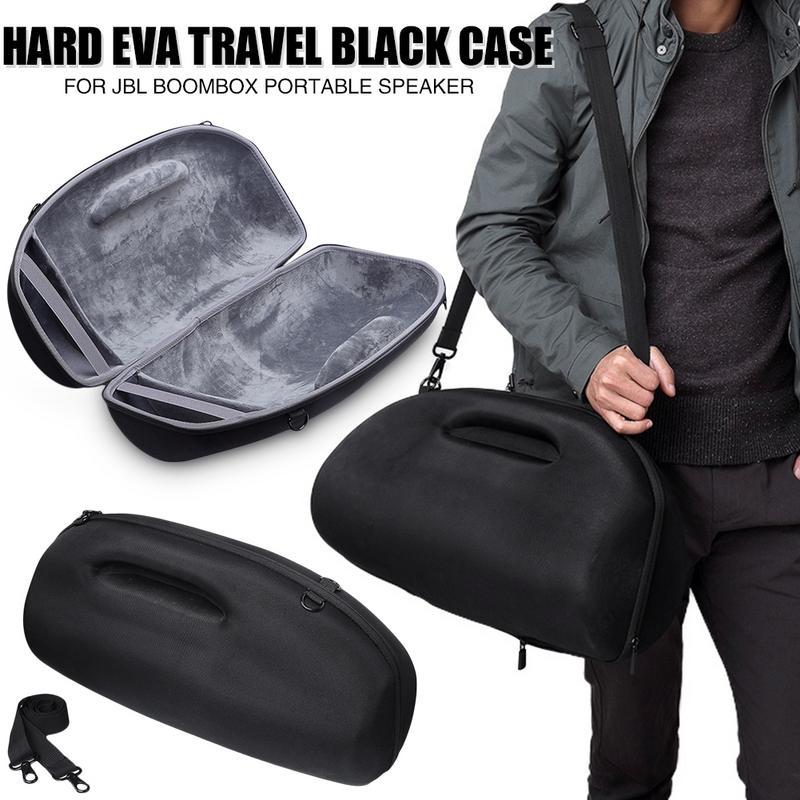 Étui de protection solide Eva étui de voyage noir pour JBL Boombox Portable sans fil Bluetooth haut-parleur avec sangle de transport