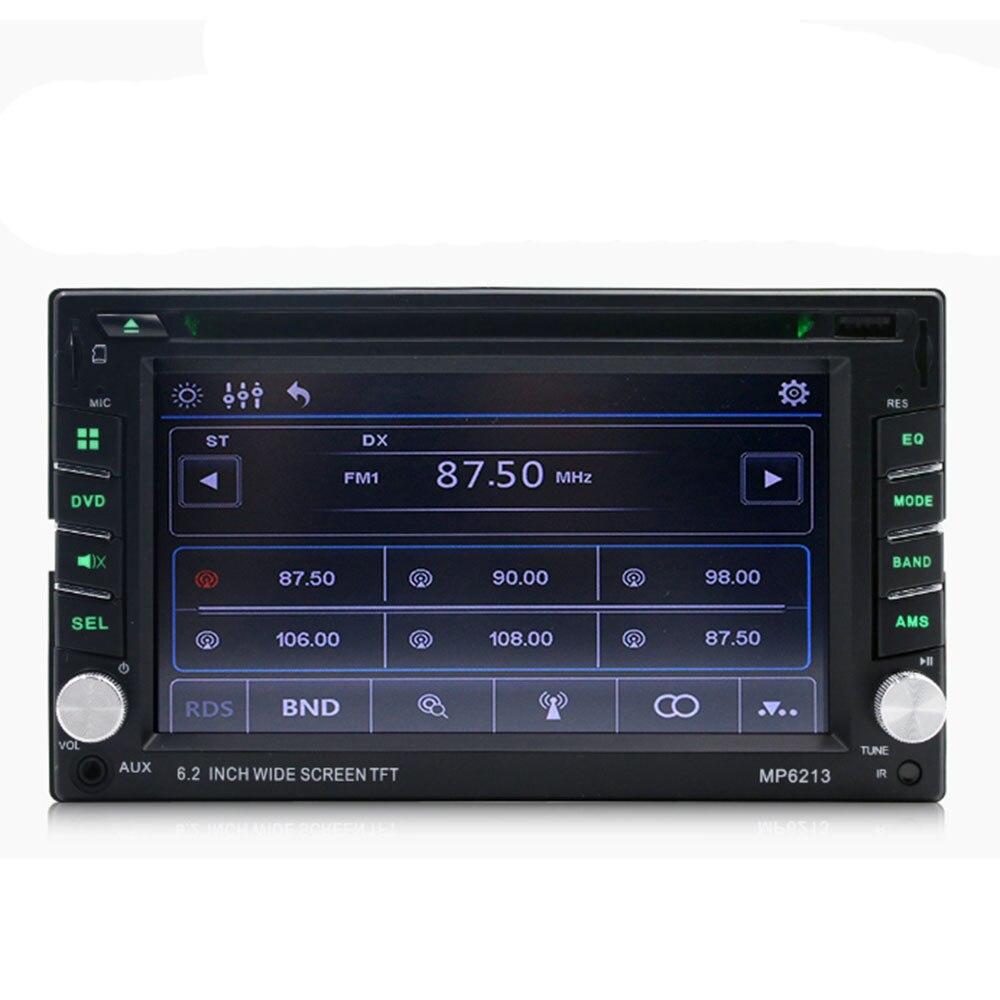 Car 6.2 Inch Multimedia Dvd Cd Card Machine Mp3 Player Fm Radio Mp6213