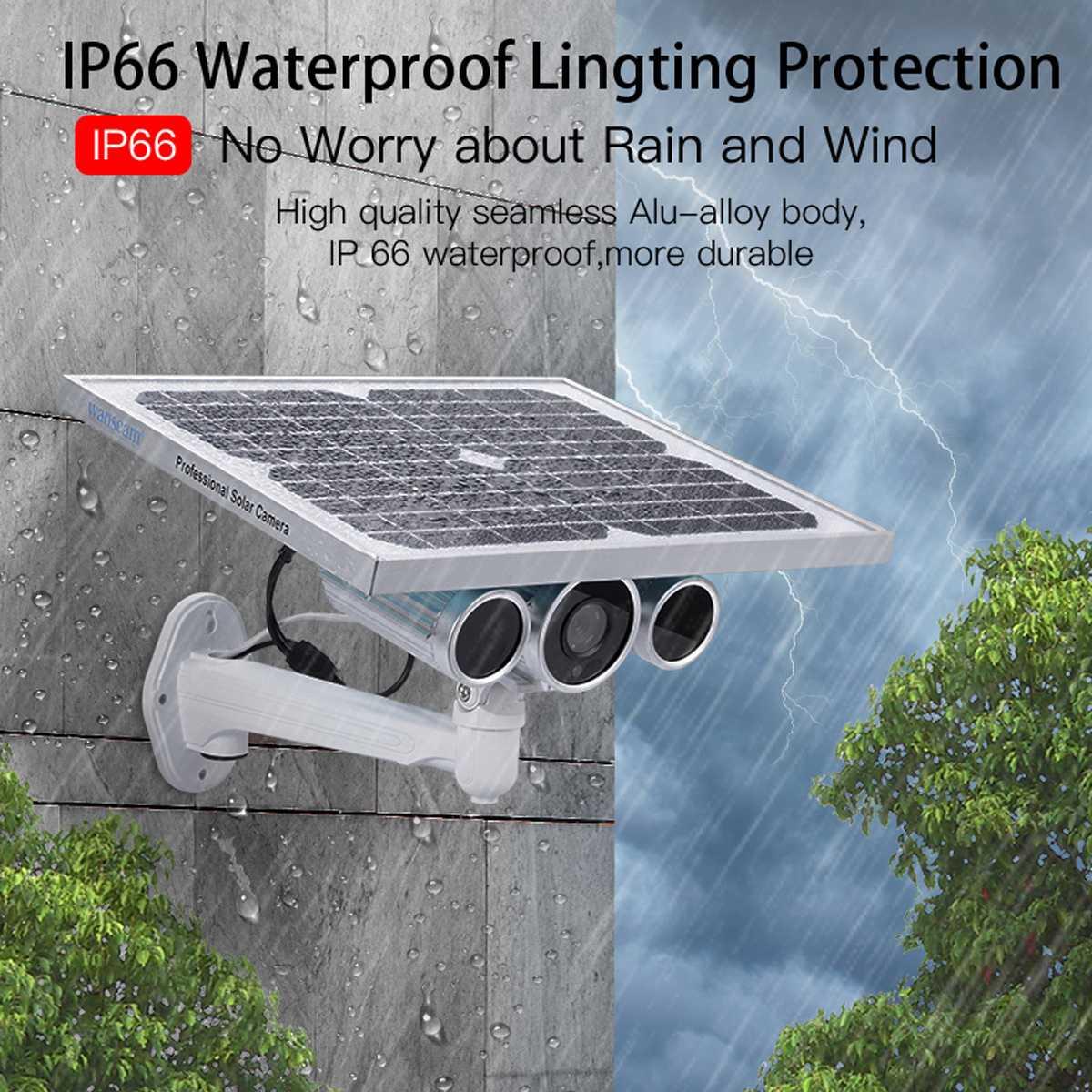 2019 caméra solaire sans fil de Surveillance vidéo de sécurité IP WiFi 4G 1080 P extérieure P2P détection de mouvement CCTV caméra